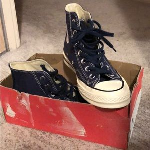 Converse Shoes - Chuck 70 High Tops in Midnight Navy